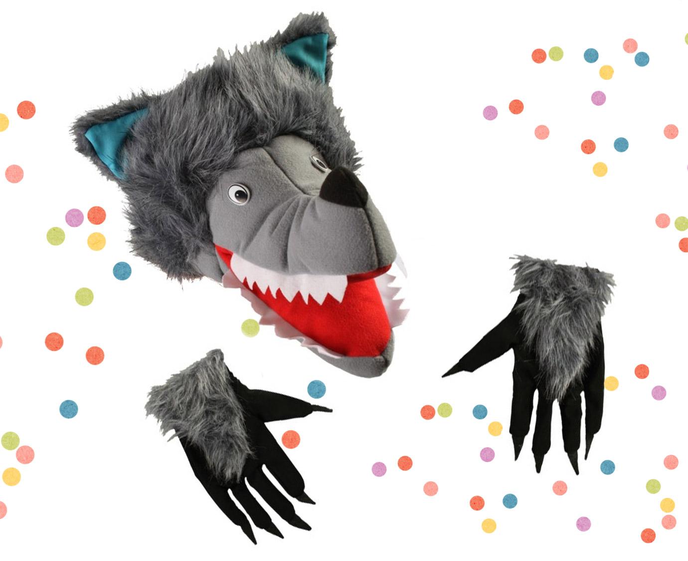 Verkleedset  'Wolf' kleur