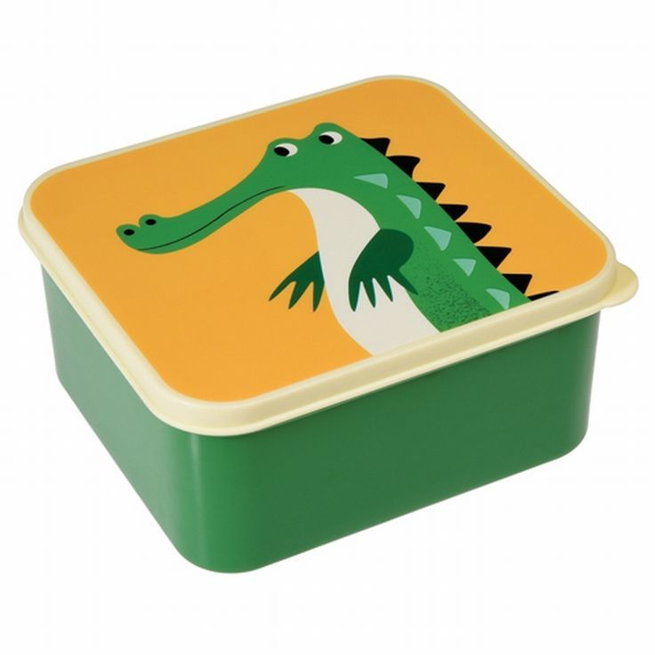Lunchbox 'Crocodil' kleur