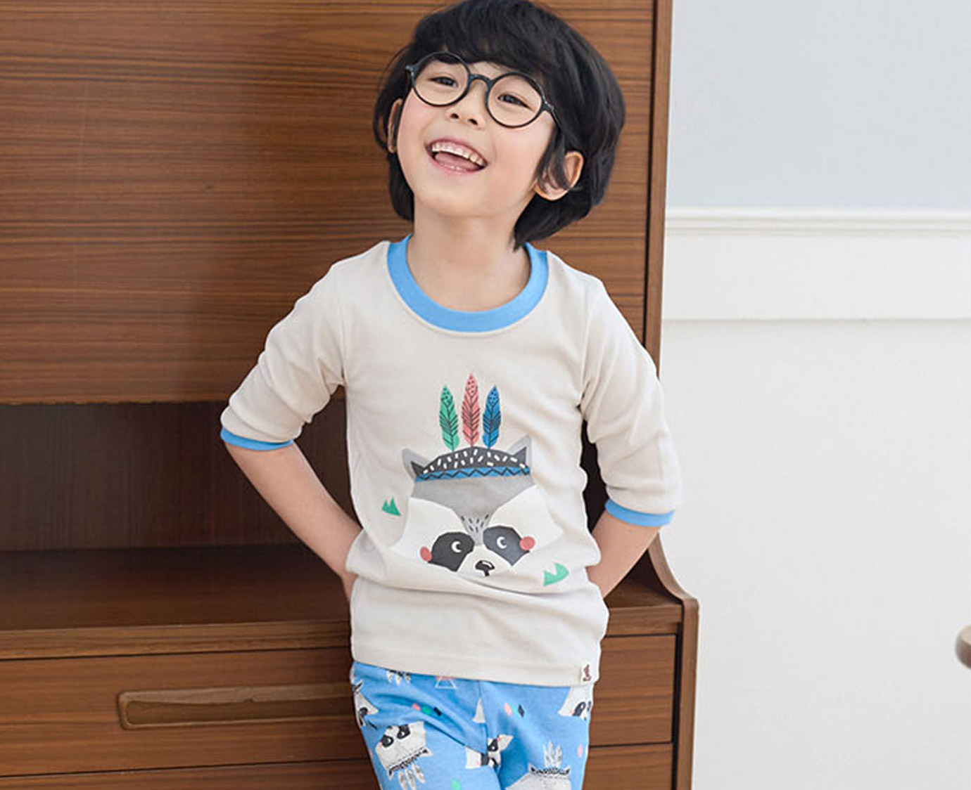 Pyjama 'Raccoon blue' 1