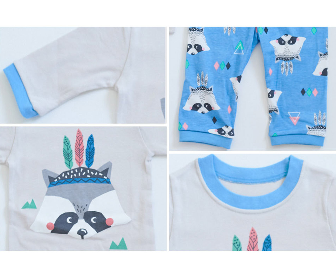 Pyjama 'Raccoon blue' 4