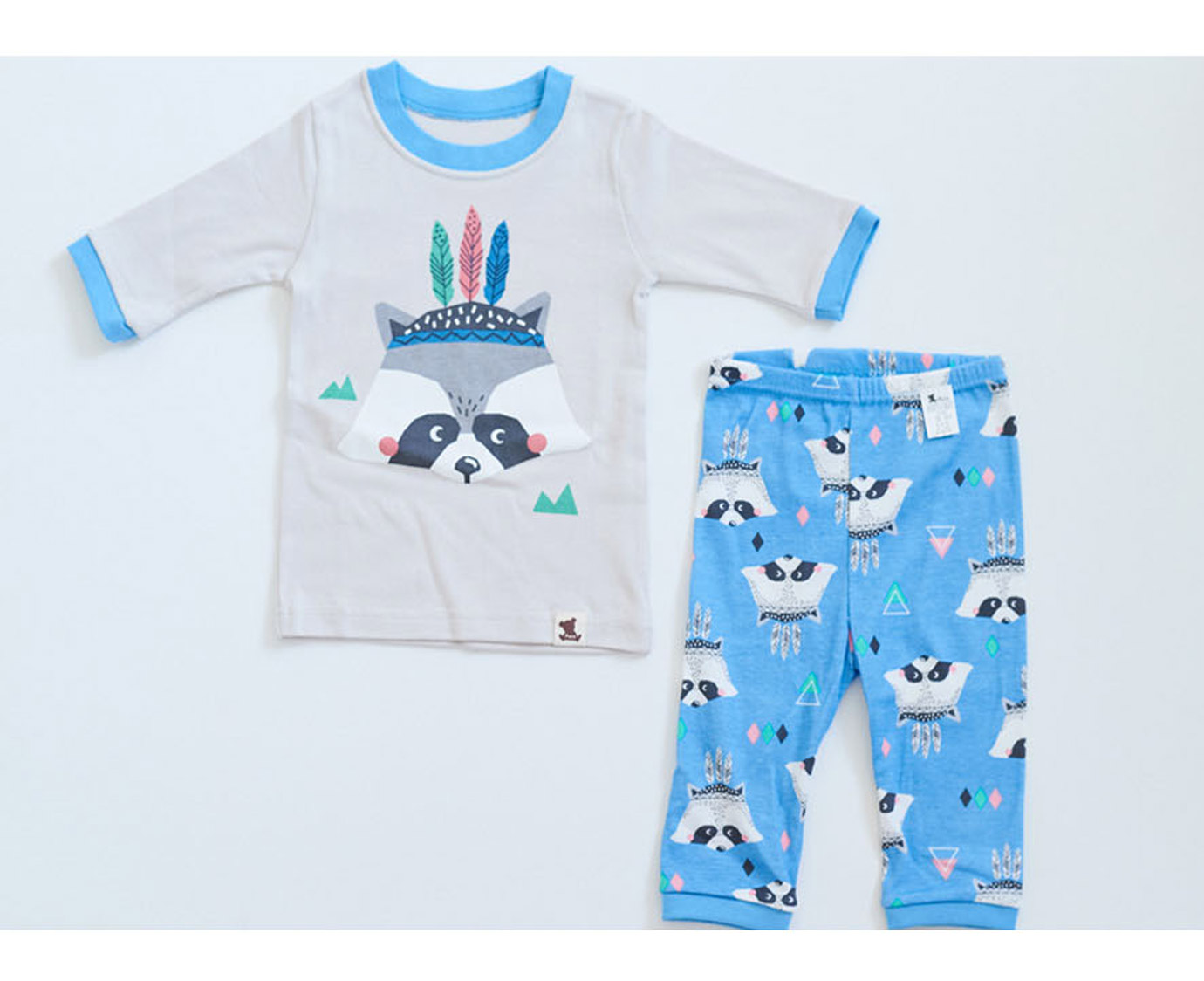 Pyjama 'Raccoon blue'