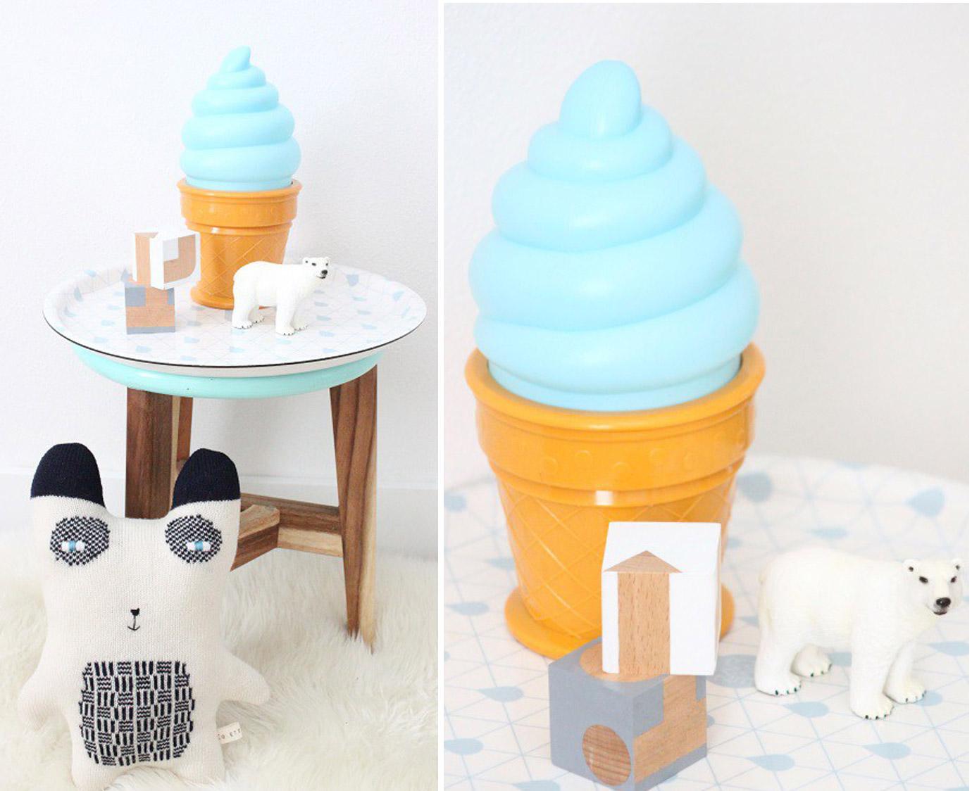 Lampje 'Ice cream blauw'