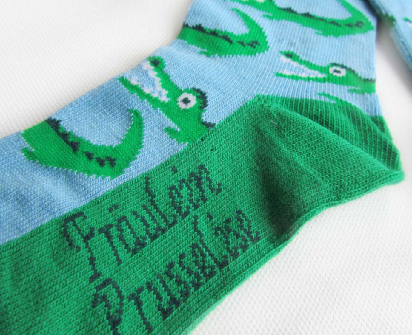 ORGANIC sokken 'Krokodil'