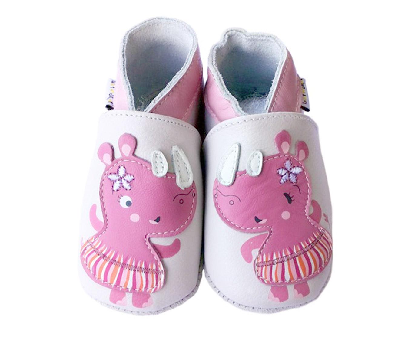 Slofjes  'Pink Rhino' kleur