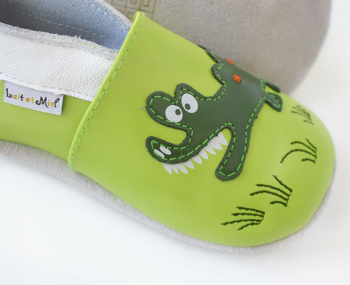 Leren slofjes 'Krokodil'
