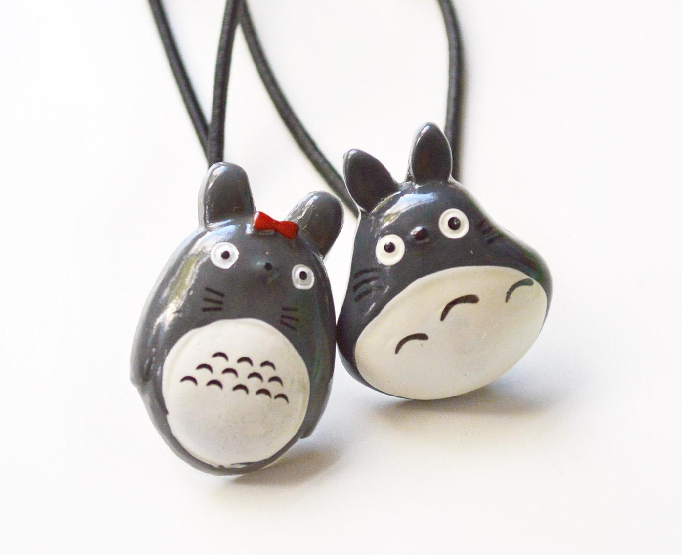 """Set haarelastiek """"Totoro"""""""