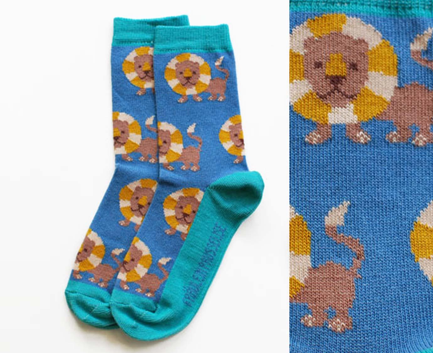 Organic sokken 'Leeuw'