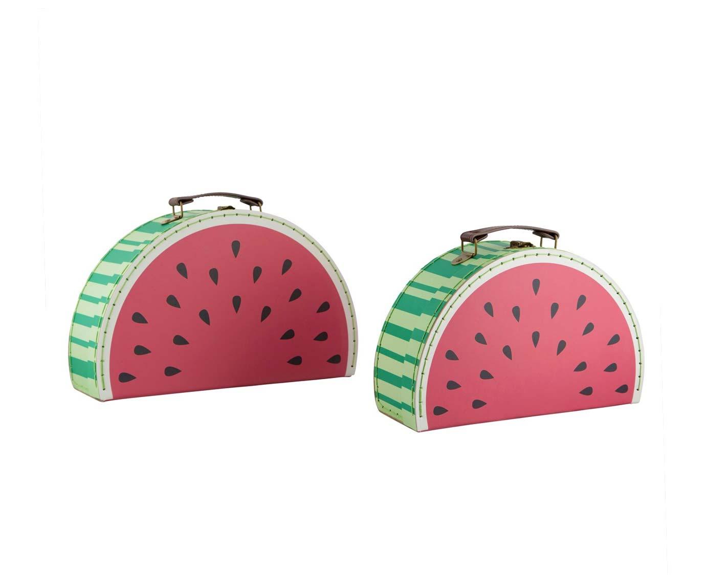 Koffer 'Watermeloen' kleur