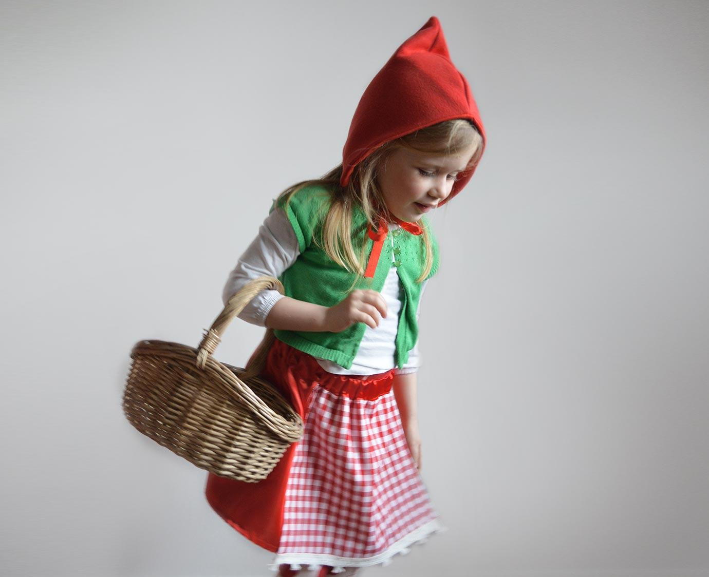 Verkleedset  Roodkapje 'Muts' kleur