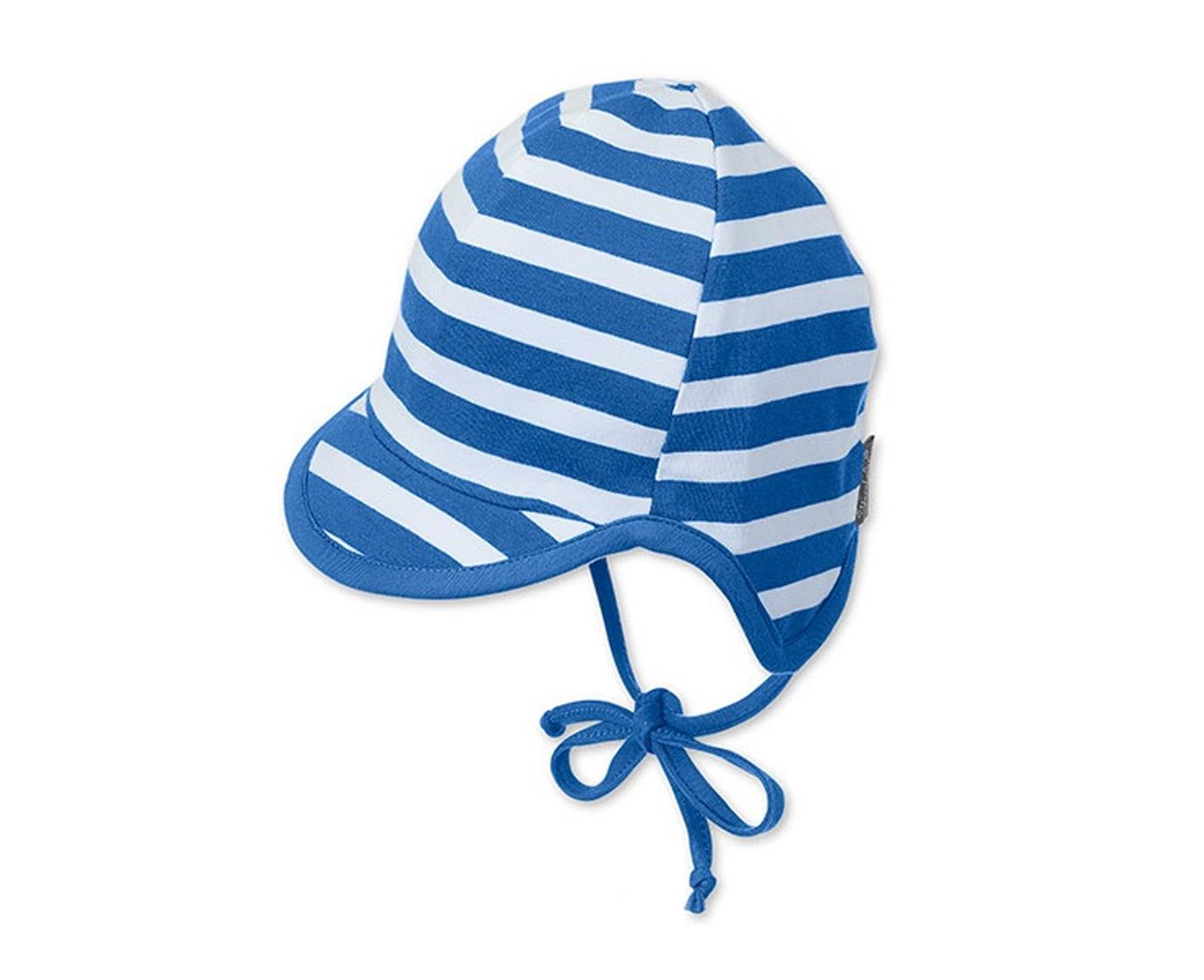 Zomerpetje 'Stripe Blue' kleur