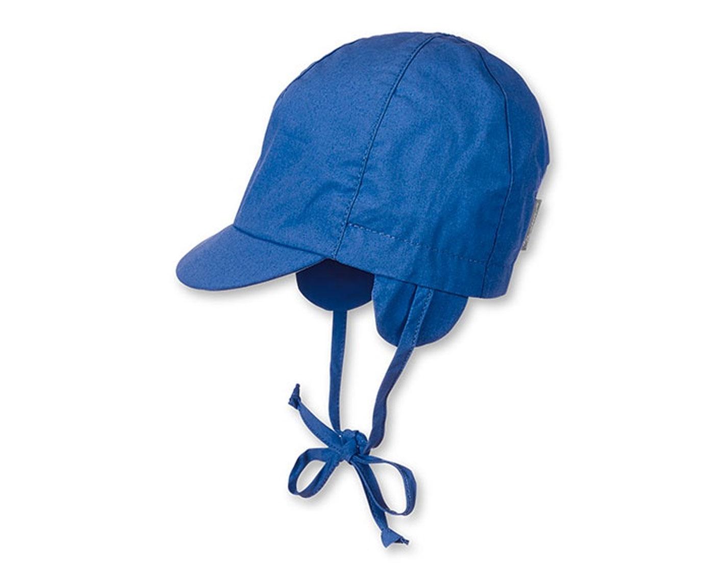 Babymuts 'Klep blauw' kleur