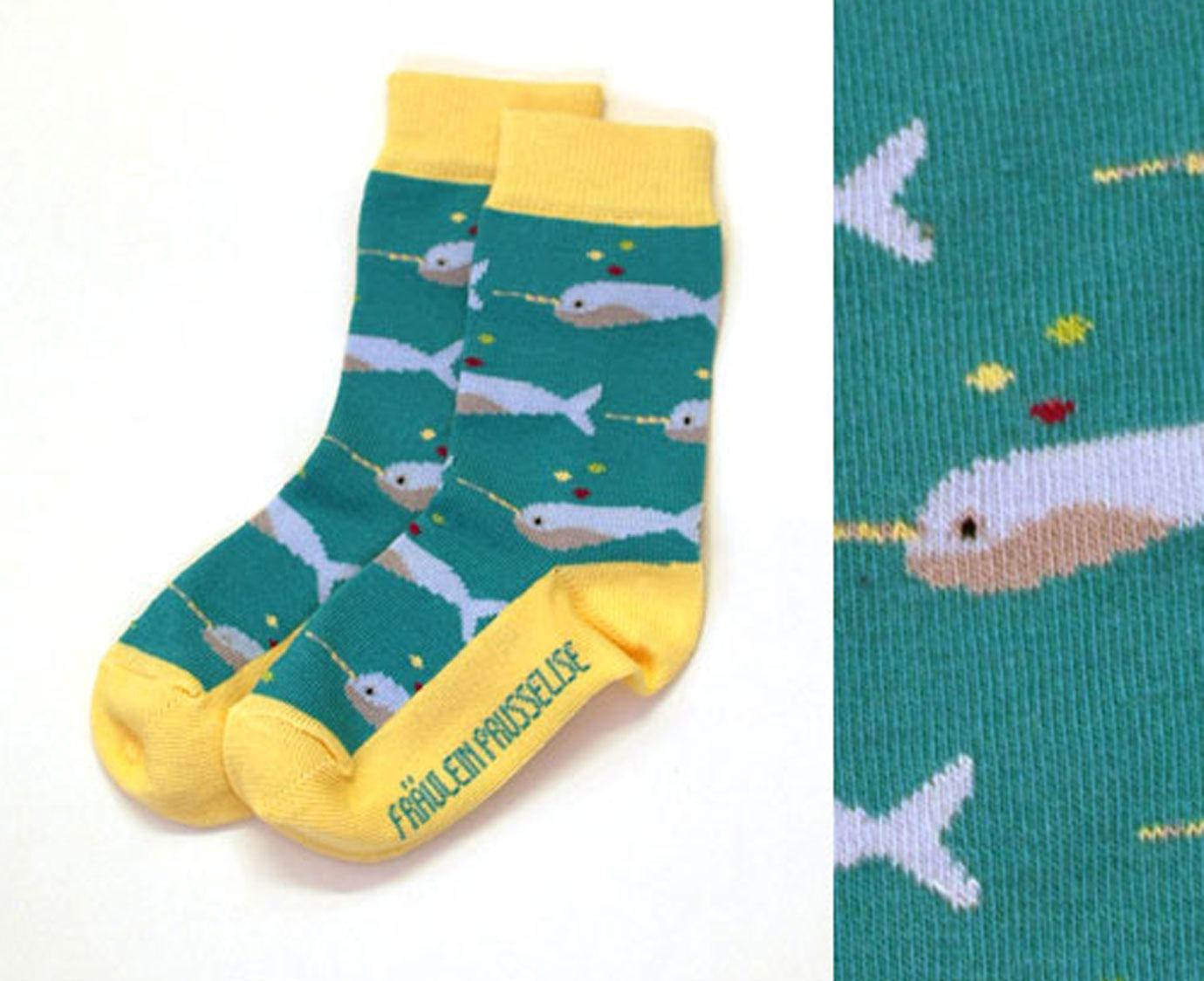 Sokken 'Unicorn Whale' kleur