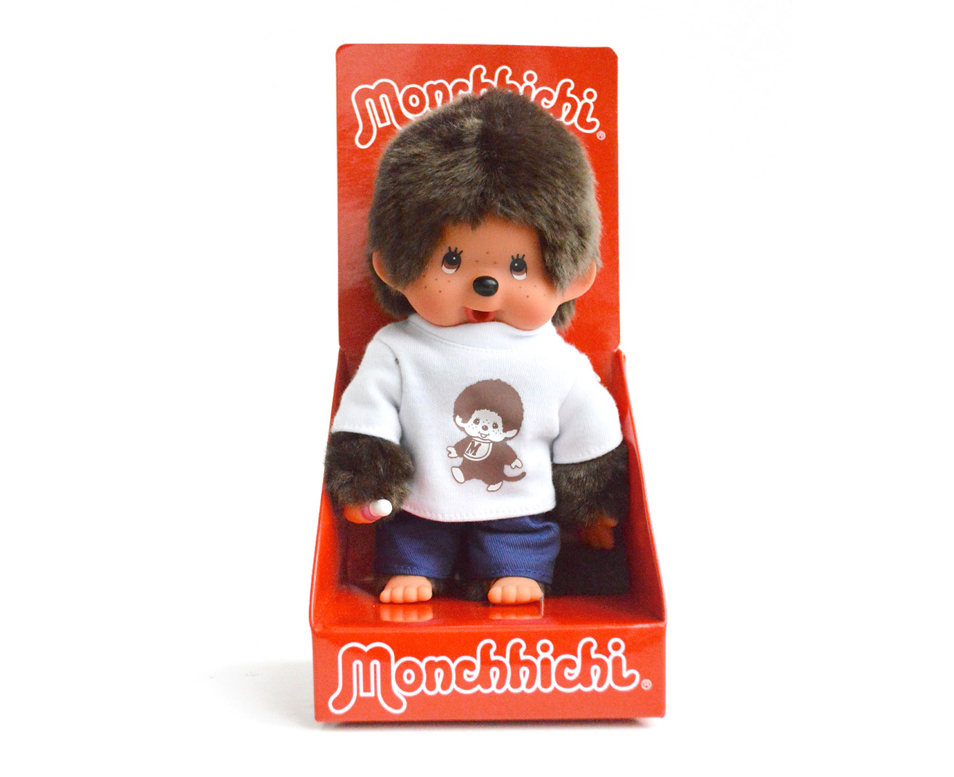 Monchhichi 'T-shirt wit' kleur