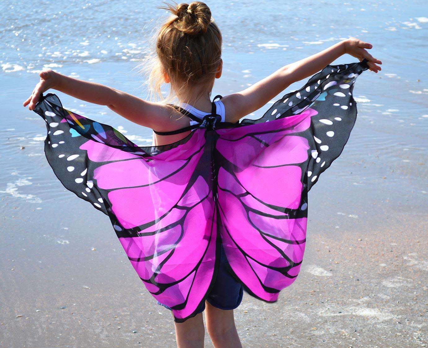 Vleugel set 'Monarch Pink' kleur