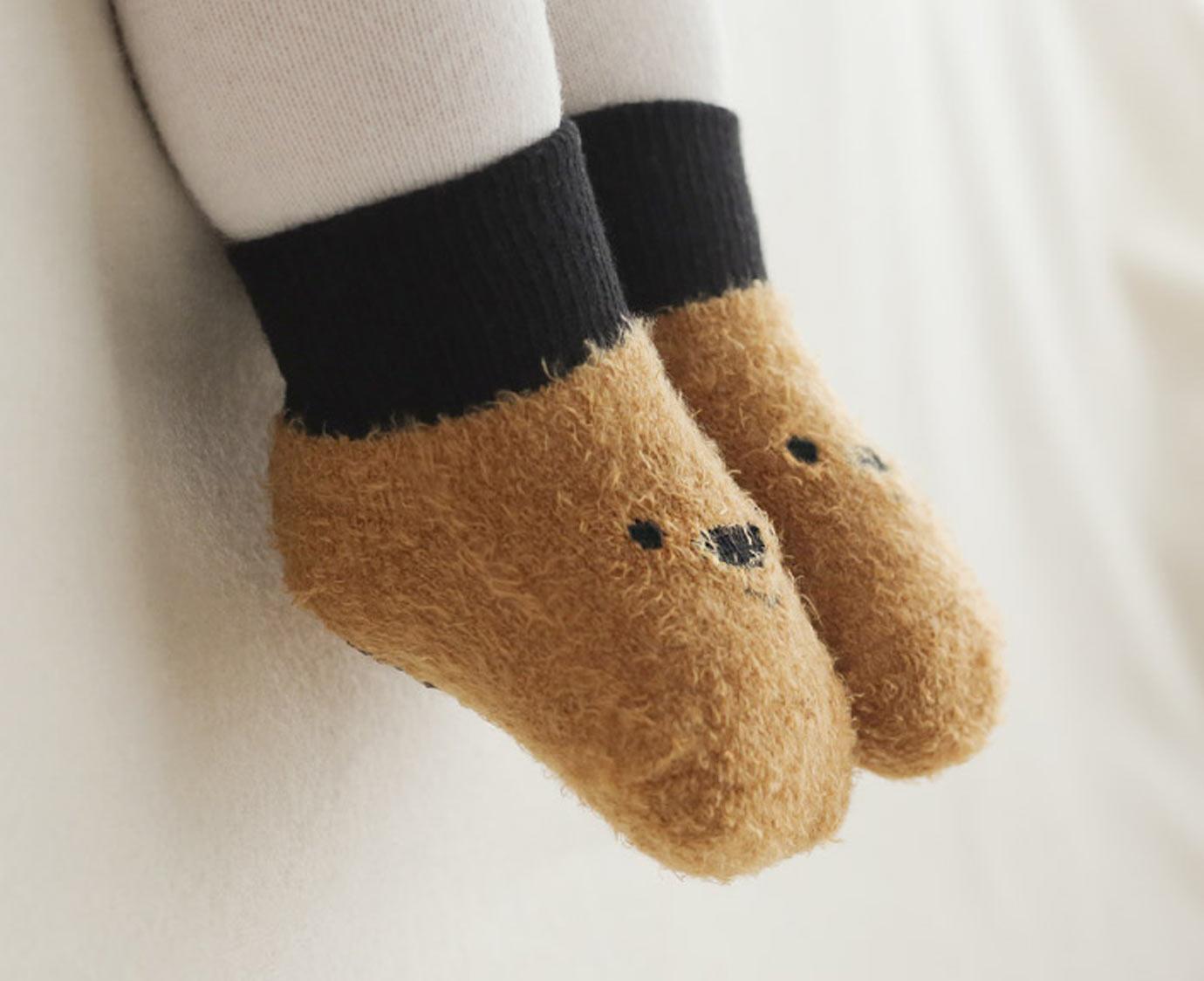 """Sokken """"Fluffy Bear"""""""