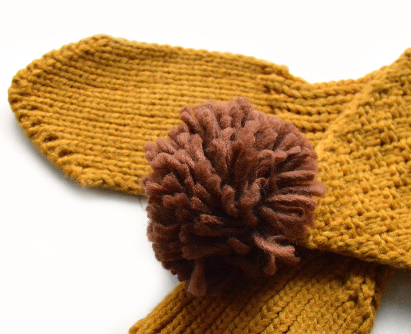 Sjaal 'Knit Mosterd'