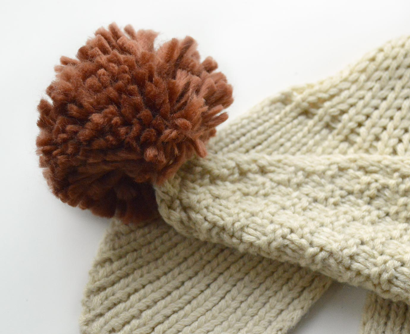 """Sjaal """"Knit Beige"""""""