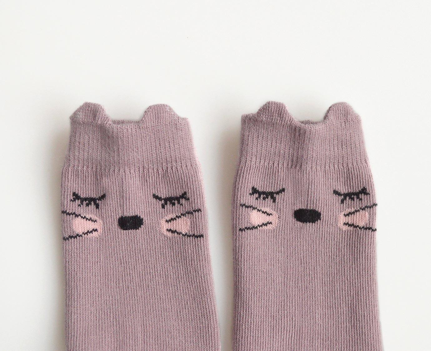 "Sokken ""Sleeping cat"" kleur"