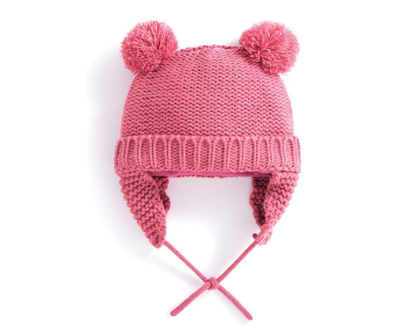 Muts 'Pompom Pink' kleur