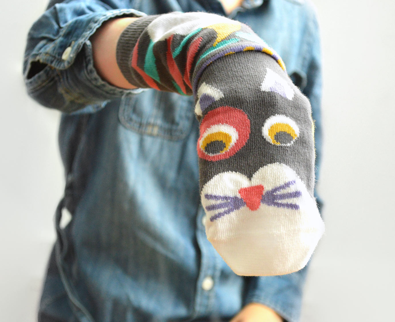 Sokken 'Zwarte kat' kleur