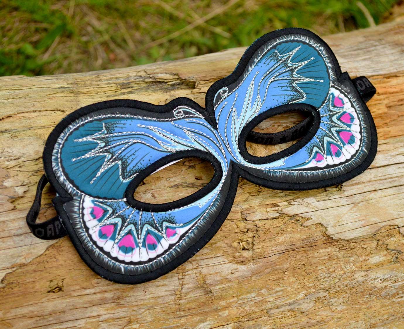 Masker 'Blue Karner' kleur