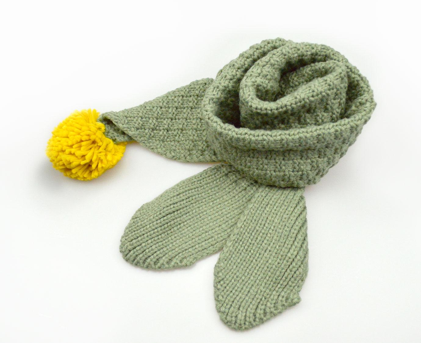 Sjaal 'Knit Kaki'