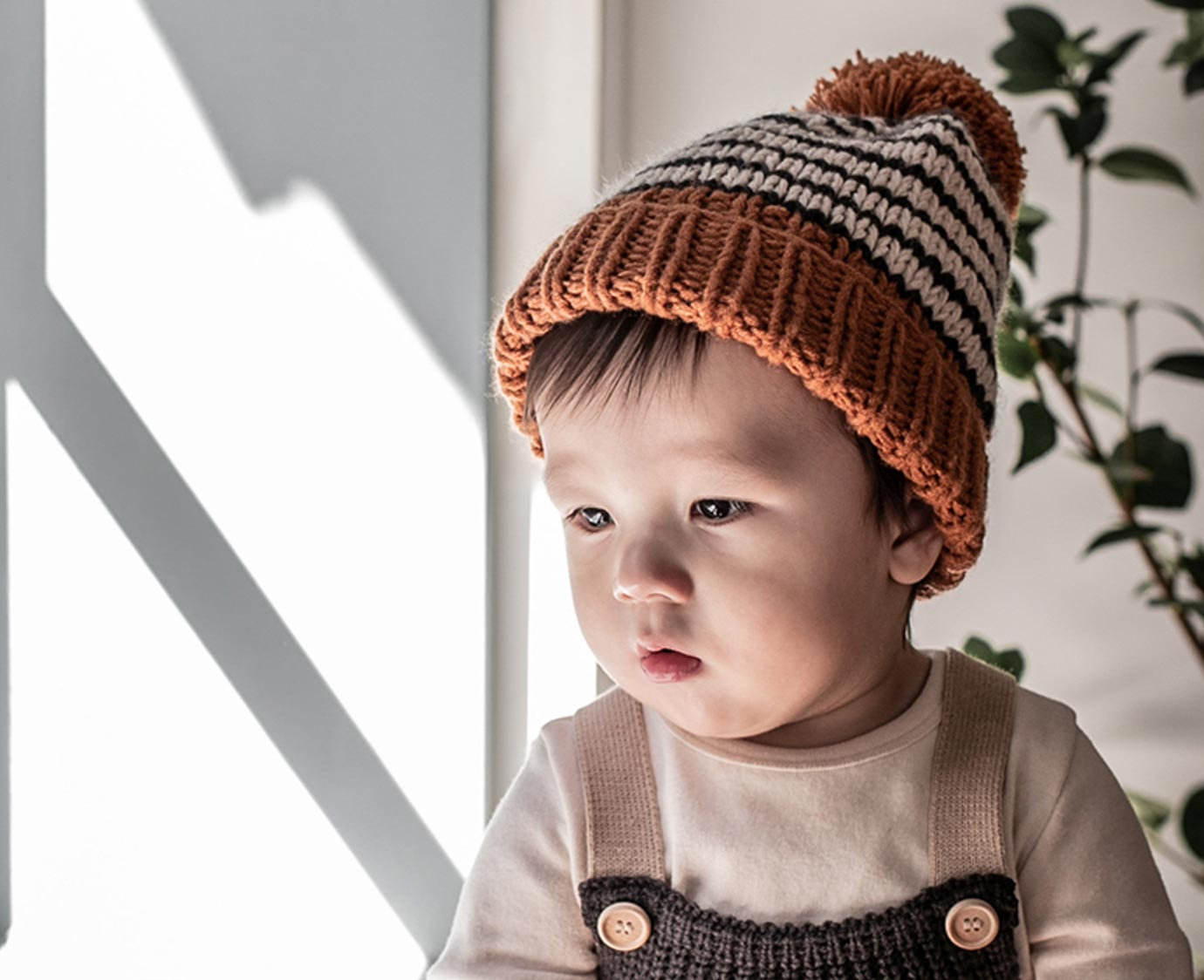 Muts 'Stripe knit' kleur
