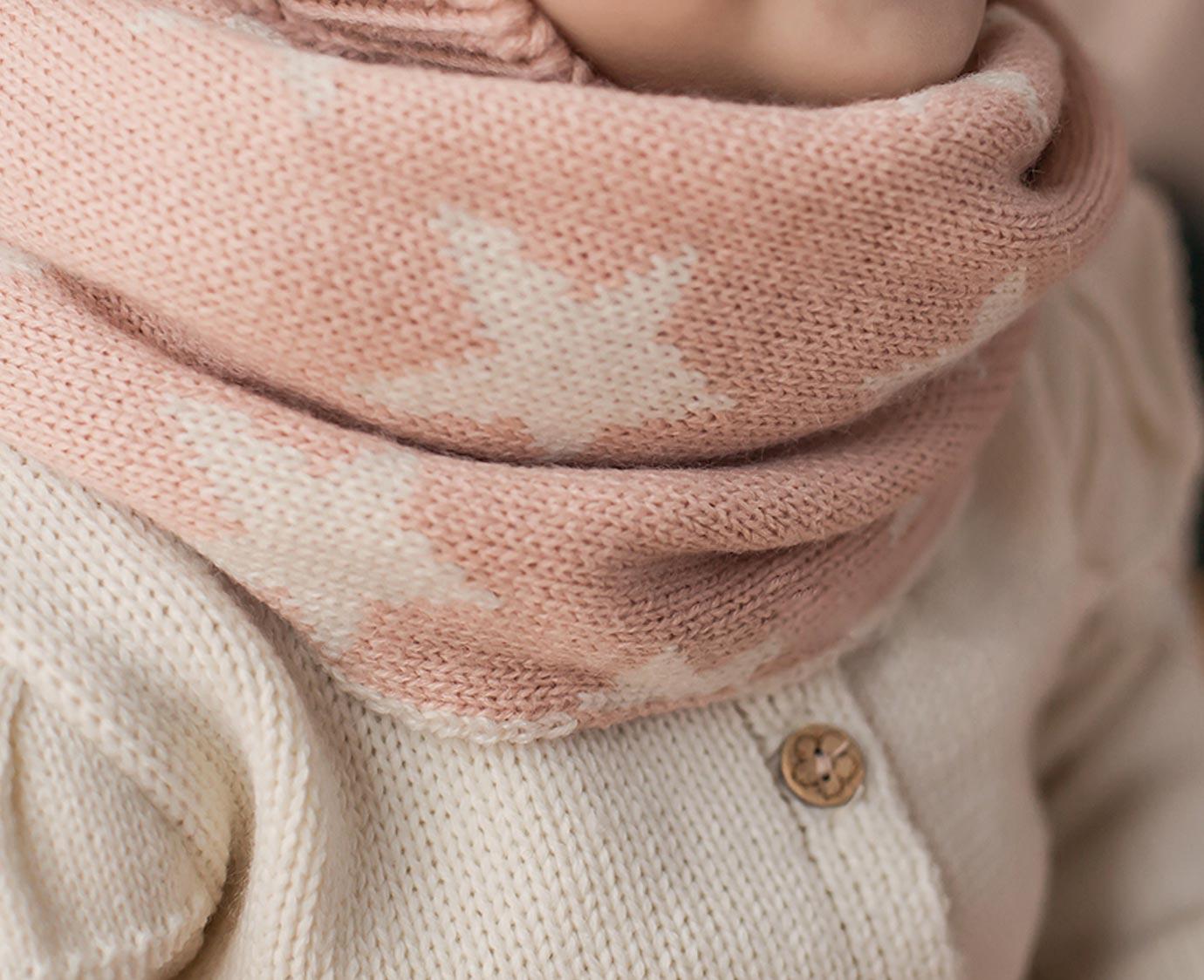 Colsjaal 'Stars pink' kleur
