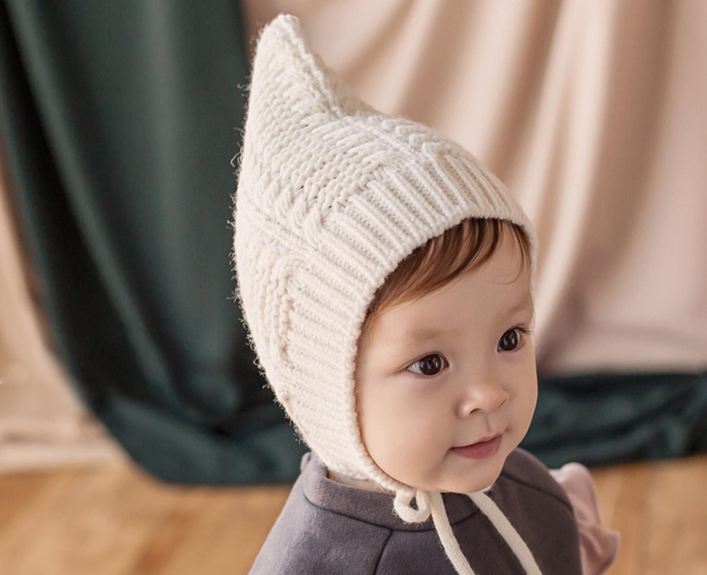 Muts 'Pixie knit ivory' kleur