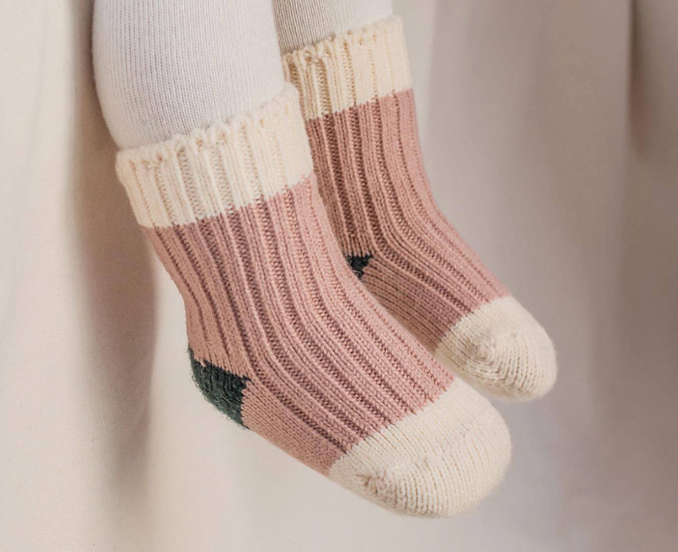 Sokken 'Retro pink' kleur