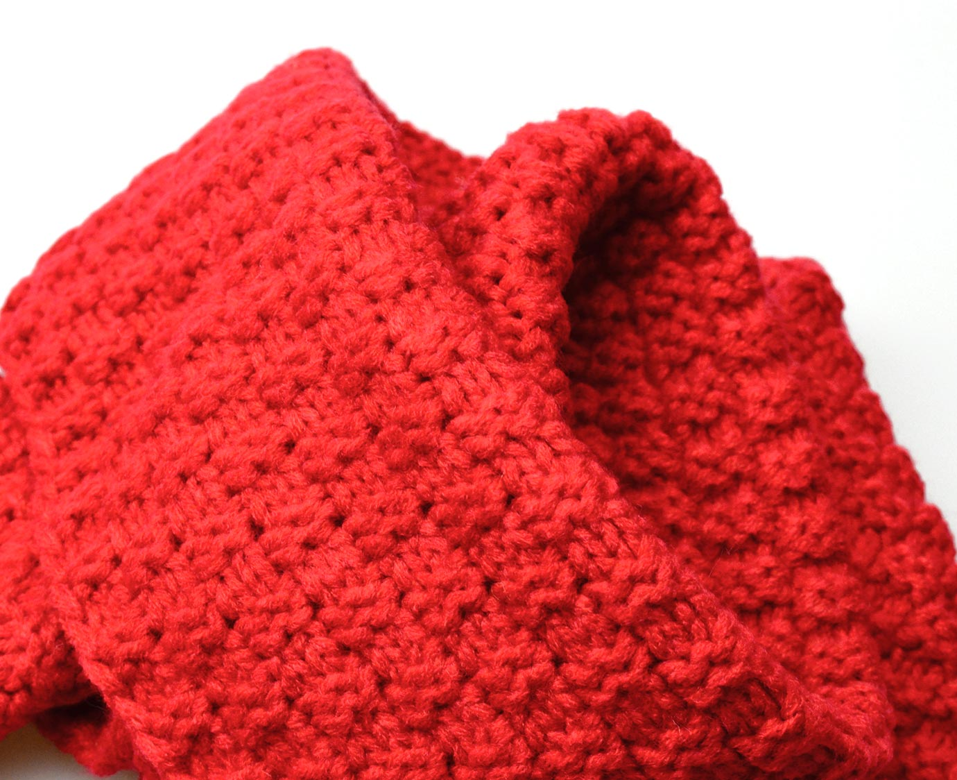 Sjaal 'Knit Red'