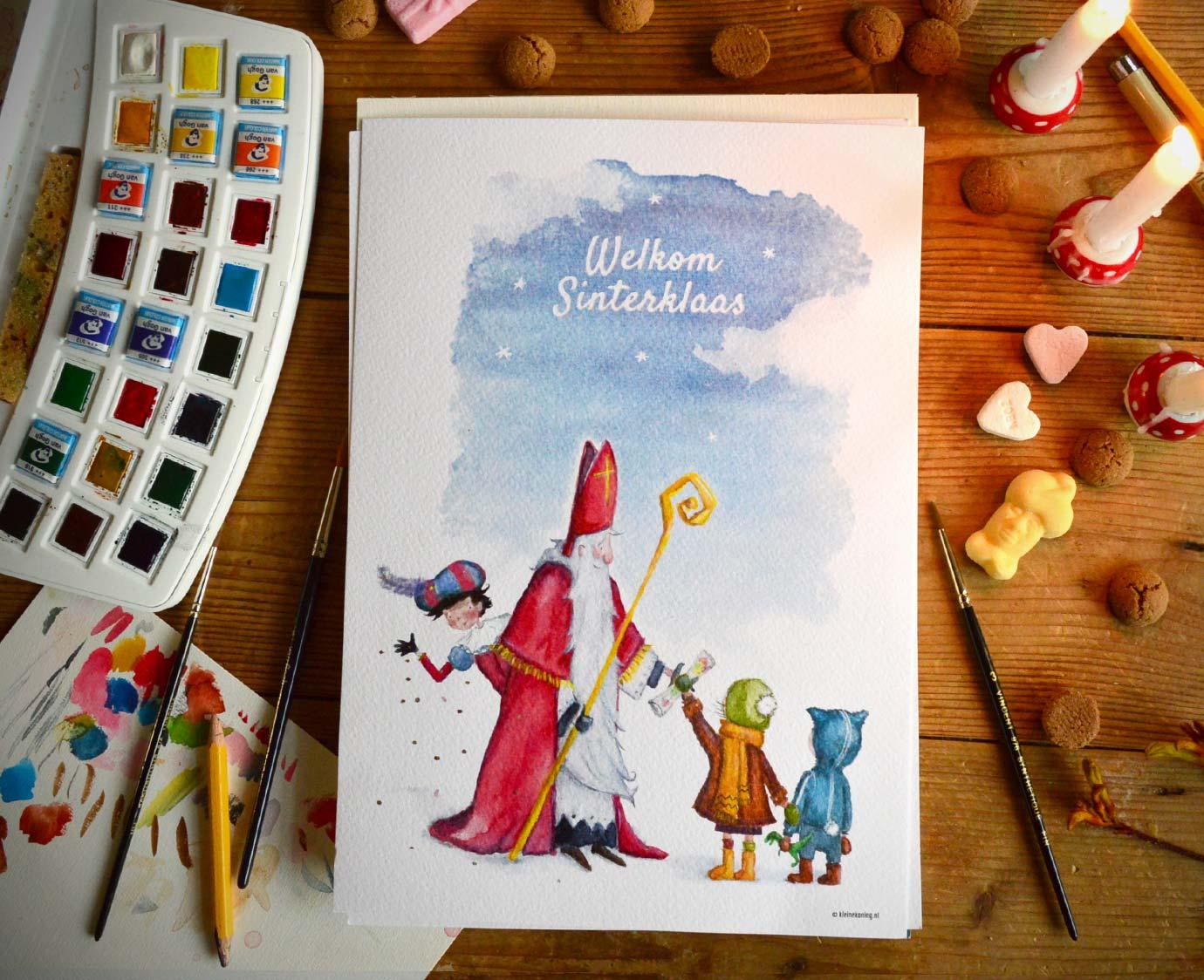 Poster 'Welkom Sinterklaas'