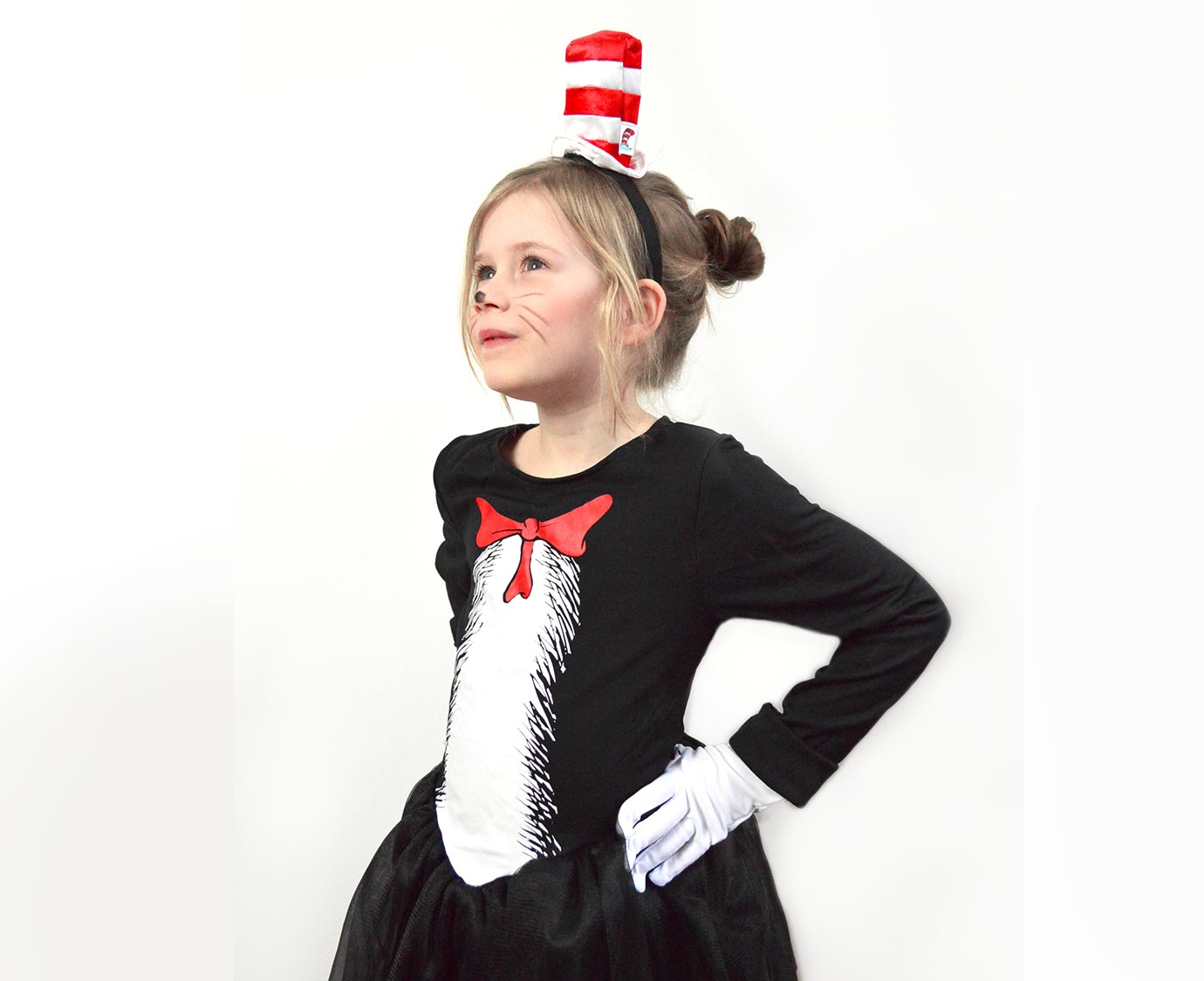 Jurk 'Cat in the hat' kleur