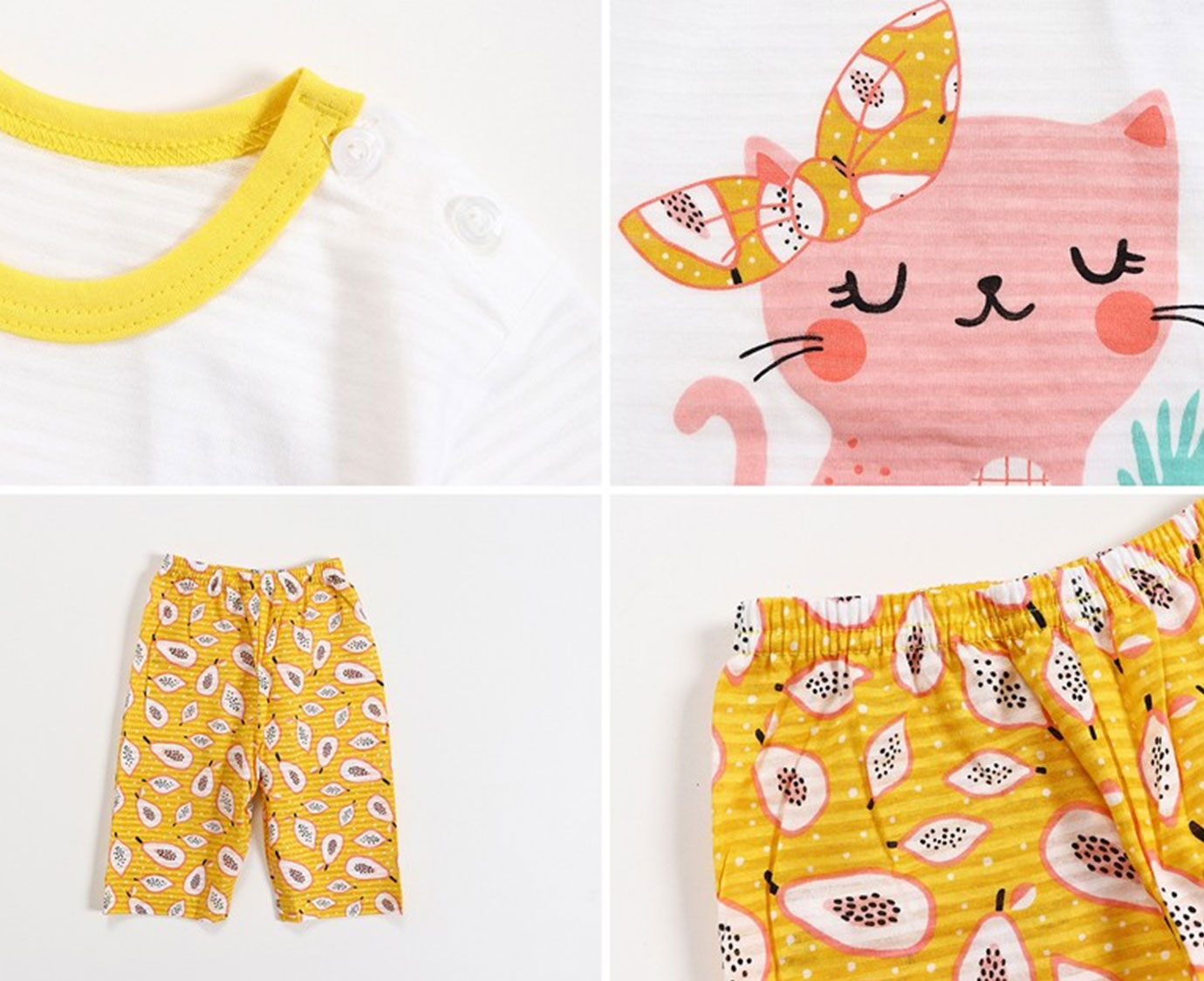 Pyjama 'Fruit cat'