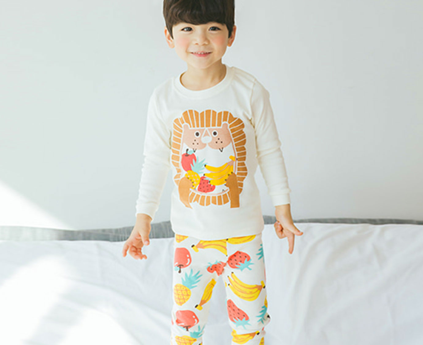 Organic Pyjama 'Fruits Lion' kleur
