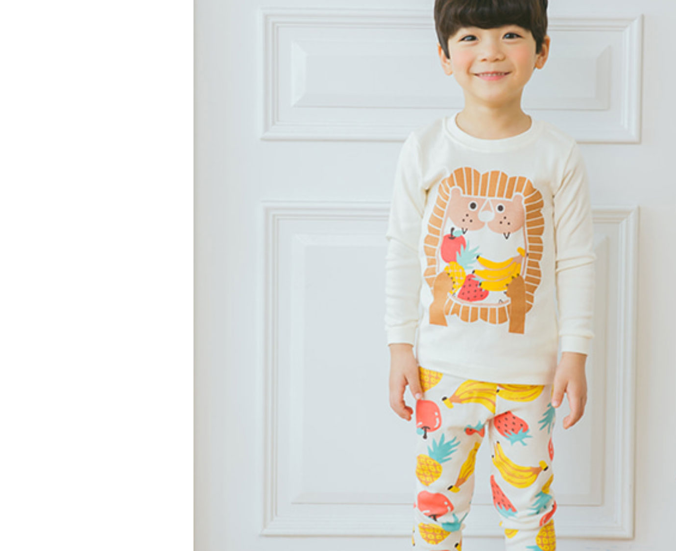 Organic Pyjama 'Fruits Lion'