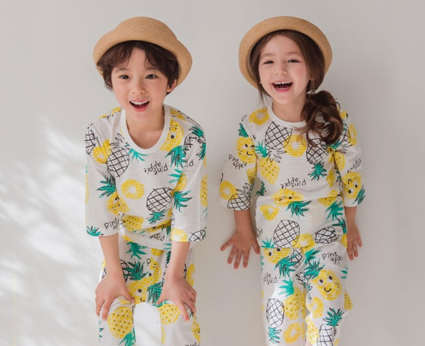 Pyjama 'Pineapple fun' kleur
