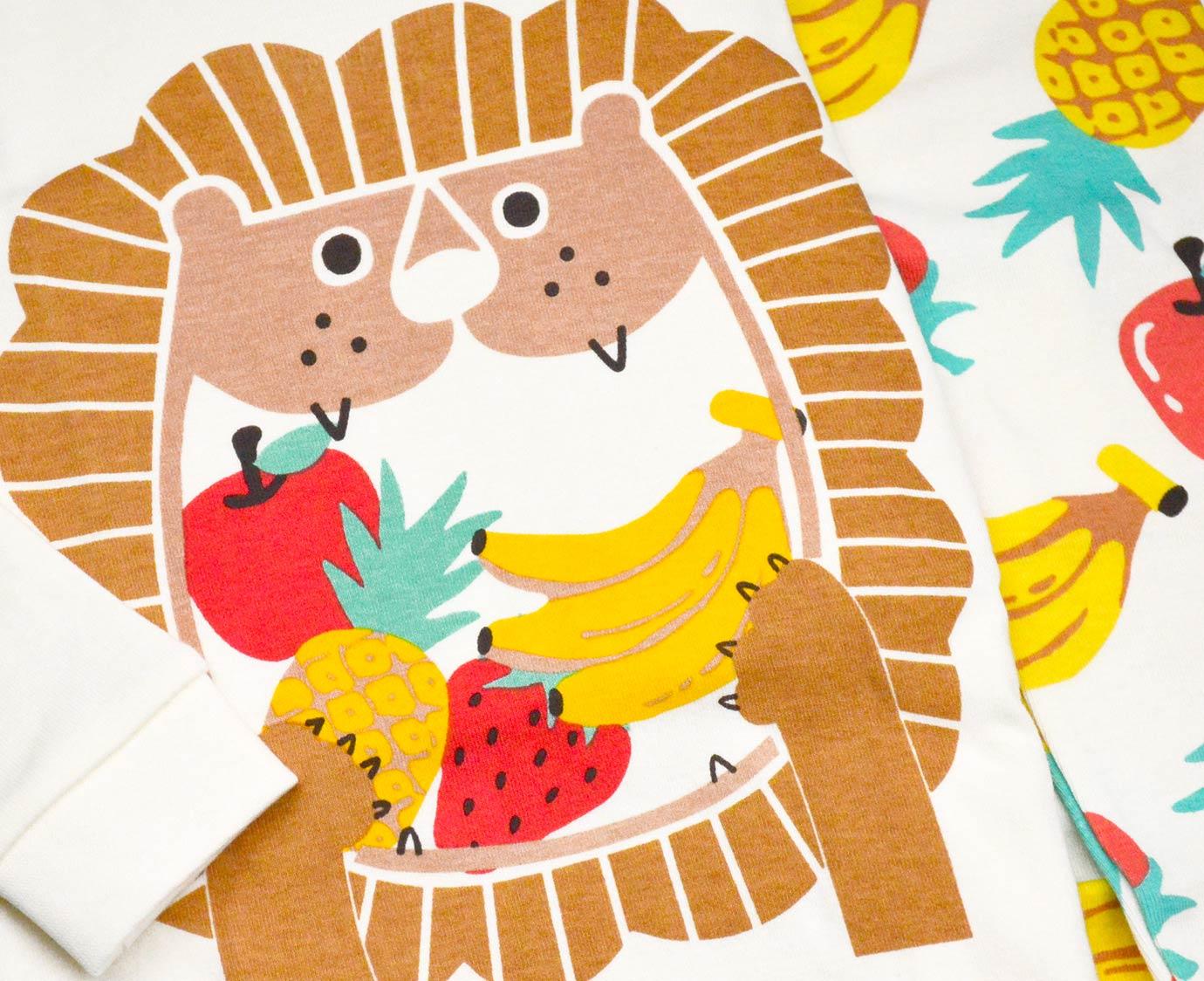 Organic Pyjama 'Fruits Lion' kleur