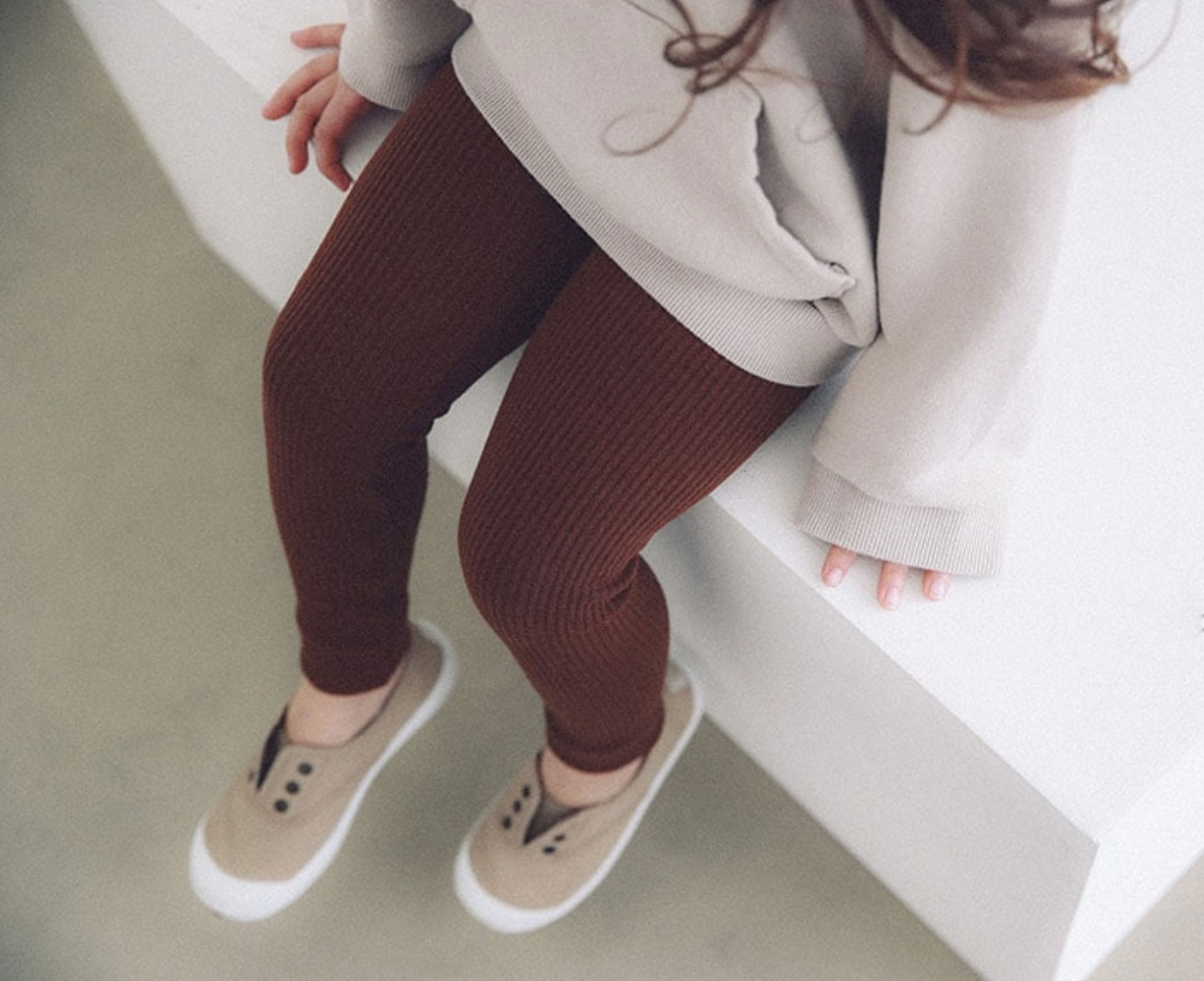Legging 'Rib bruin'
