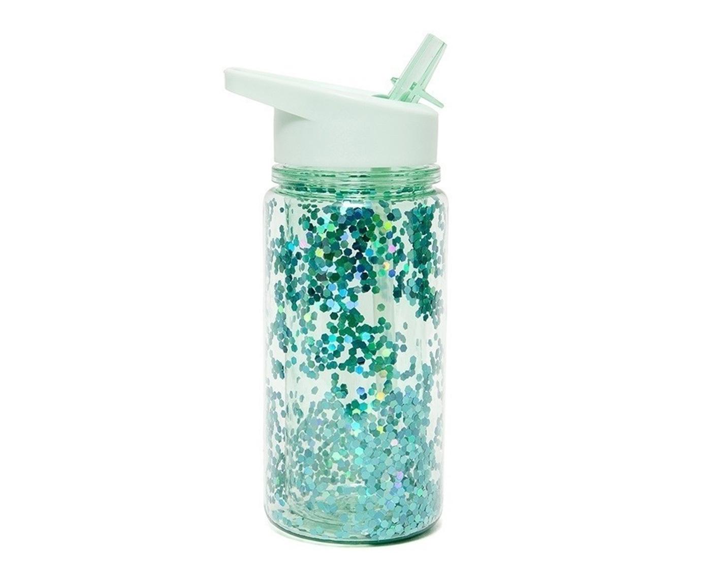Drinkfles 'Glitter lily green' kleur