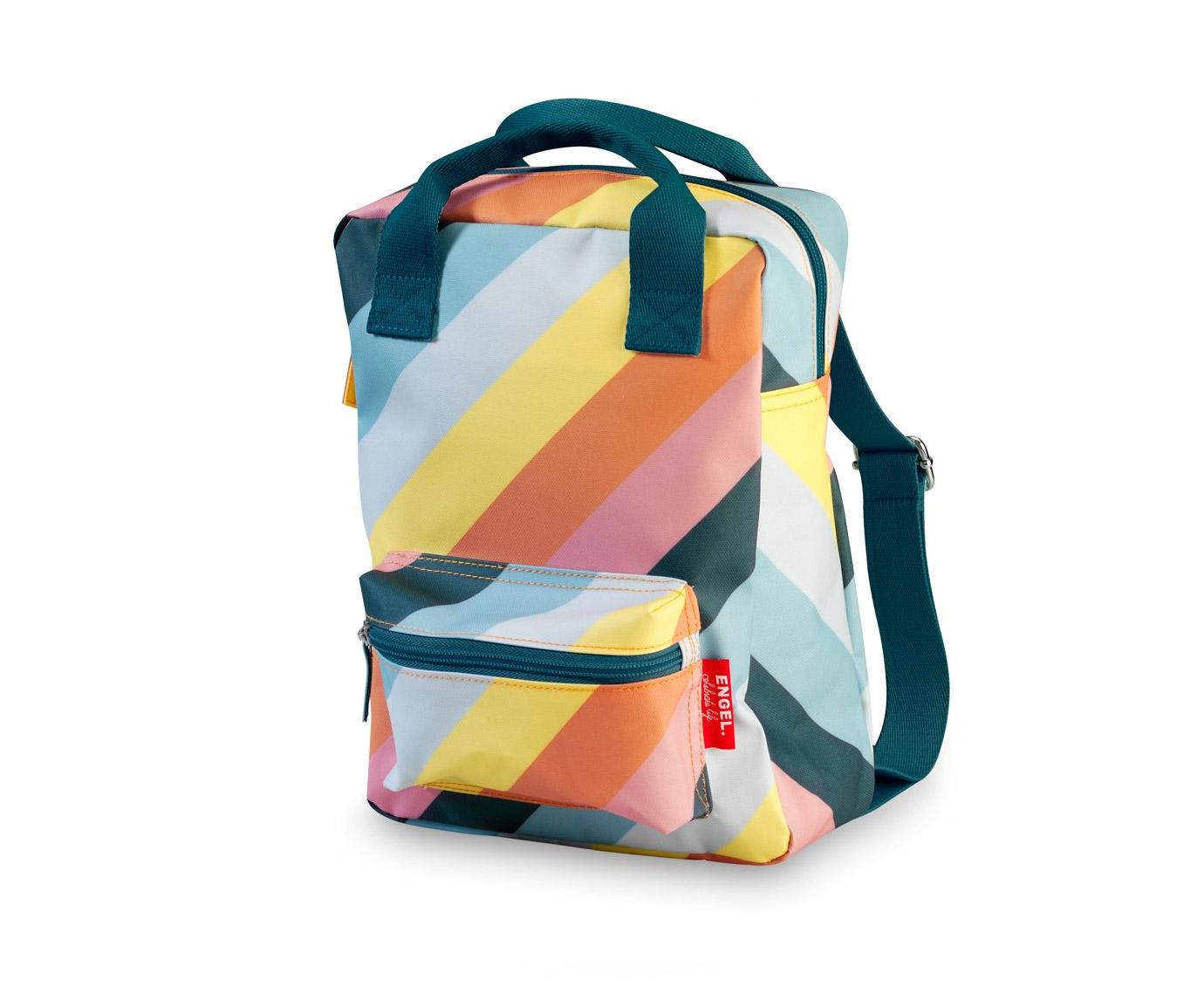 Rugzak 'Stripe Rainbow' small kleur