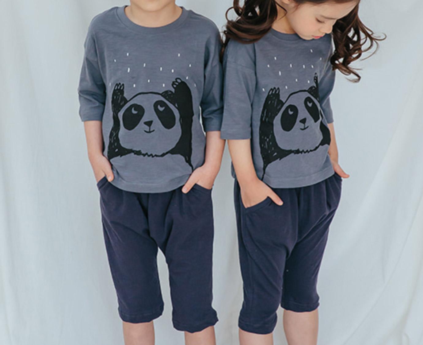 Loungewear 'Rain comes panda'