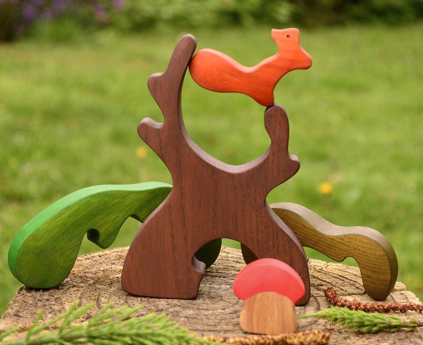 Set 'Eekhoorn en paddstoel'
