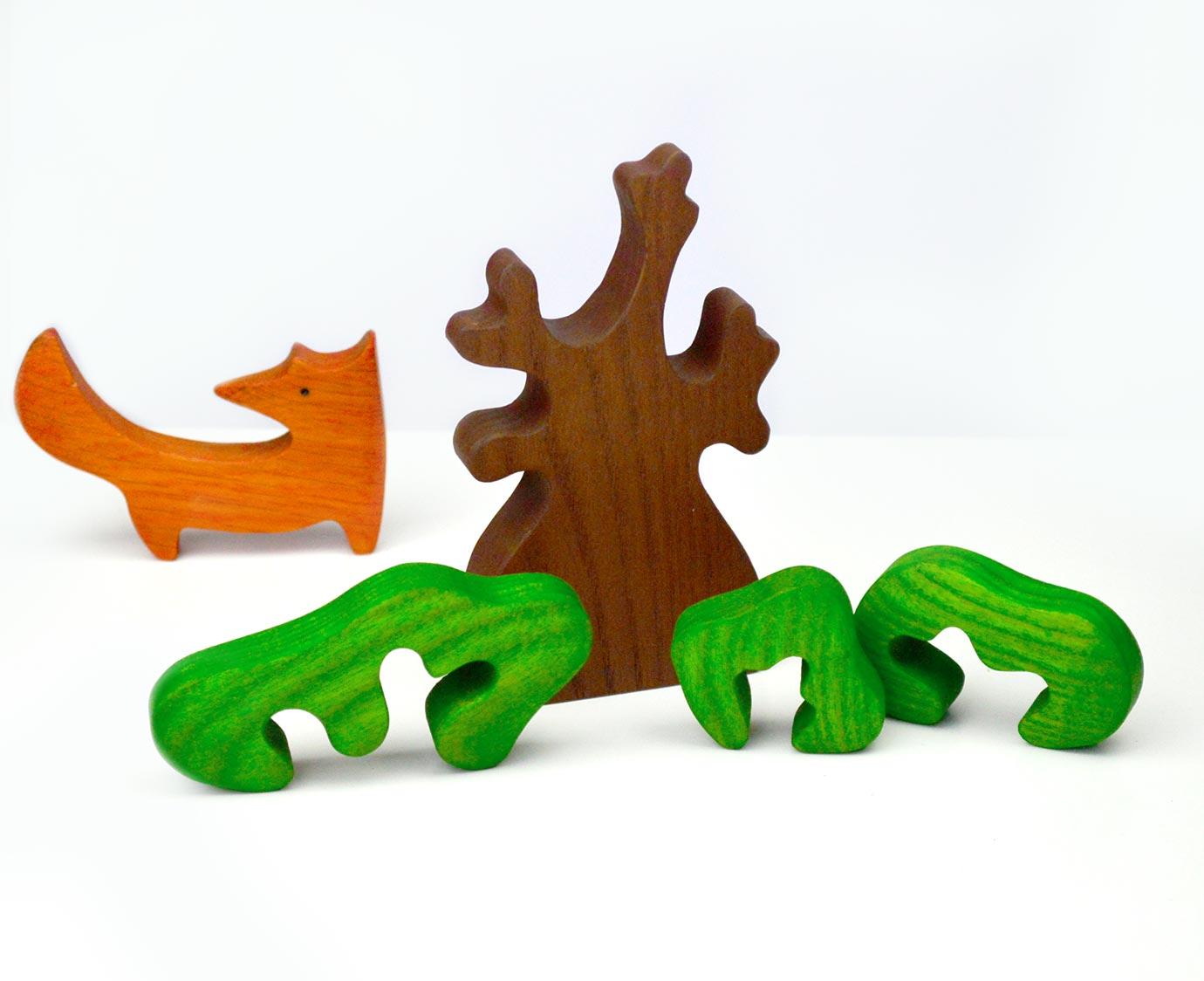 Houten boom 'Groen'