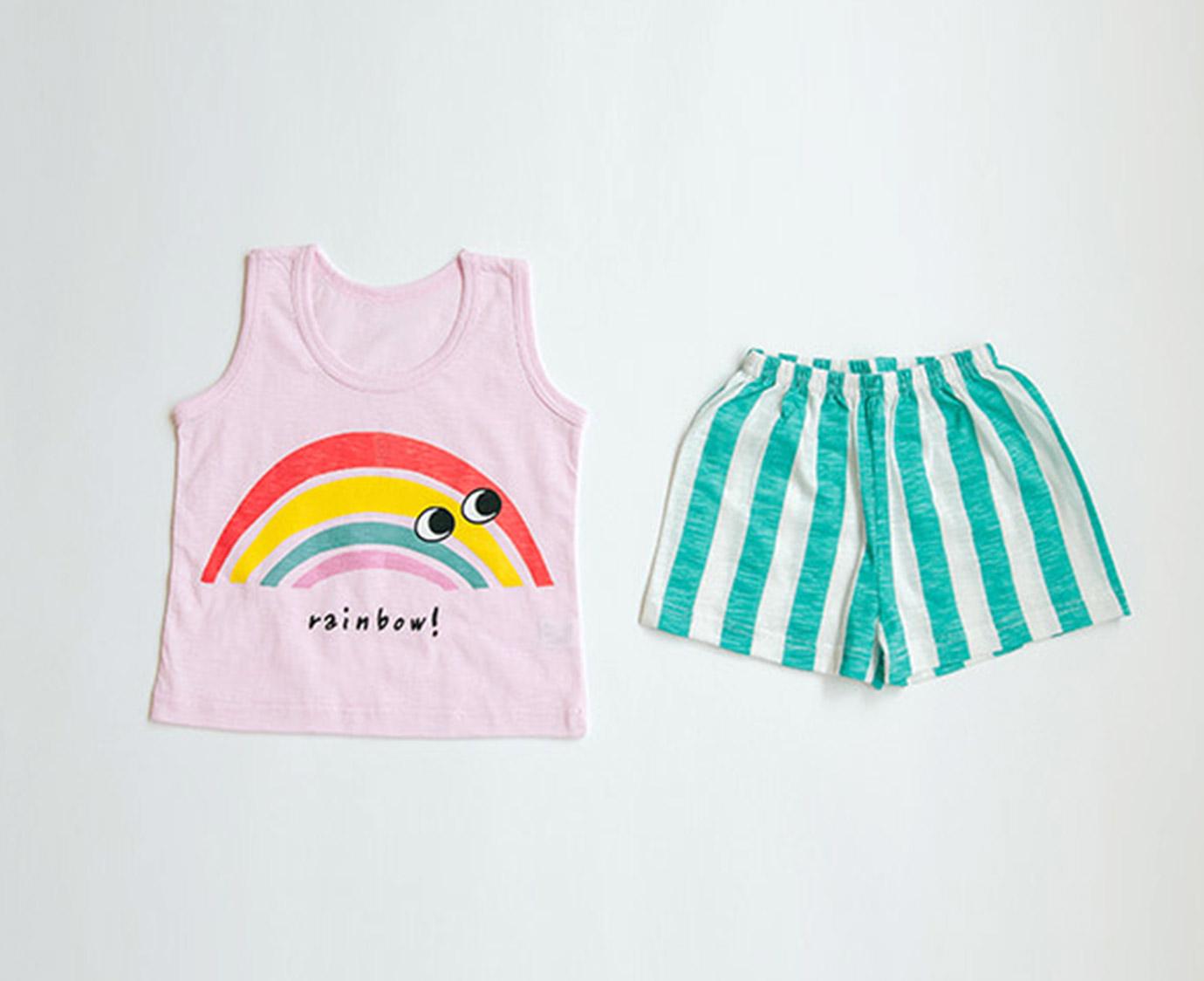 Zomersetje 'Rainbow' *Maat 86-98*