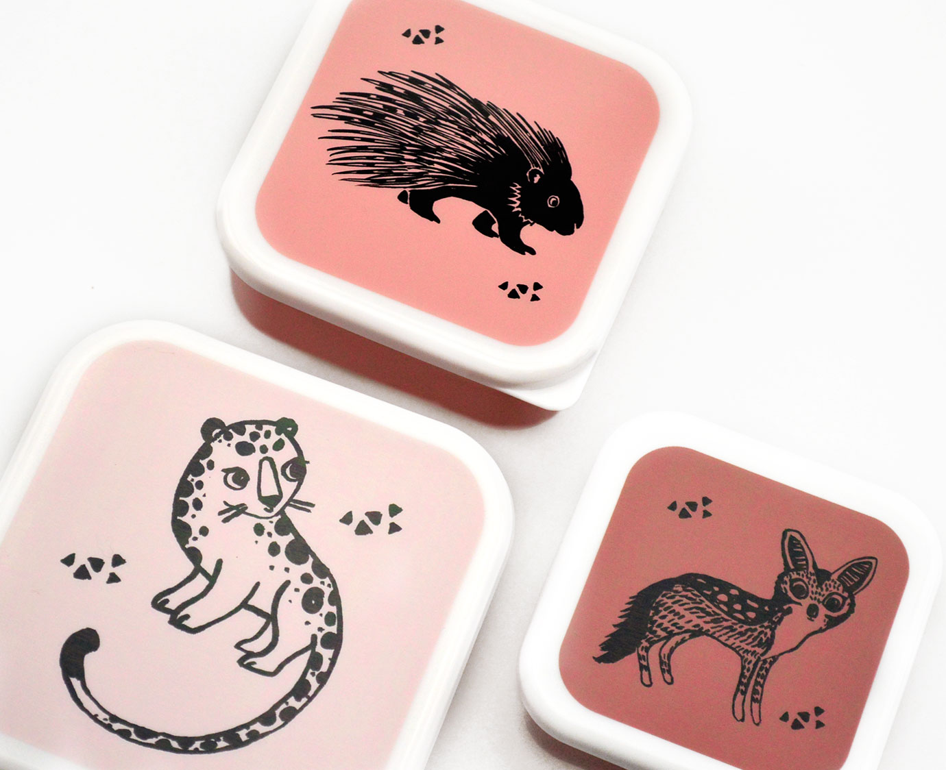 Snackdoosjes 'Black animals' kleur