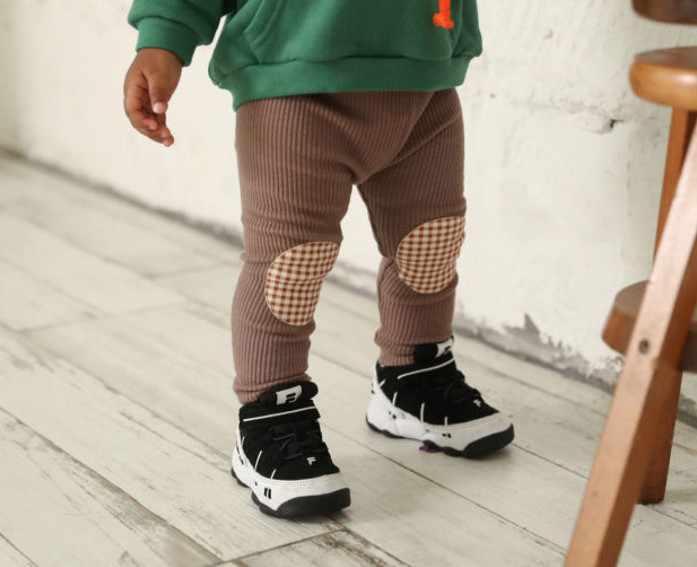 Kinderlegging 'Check ribbed'