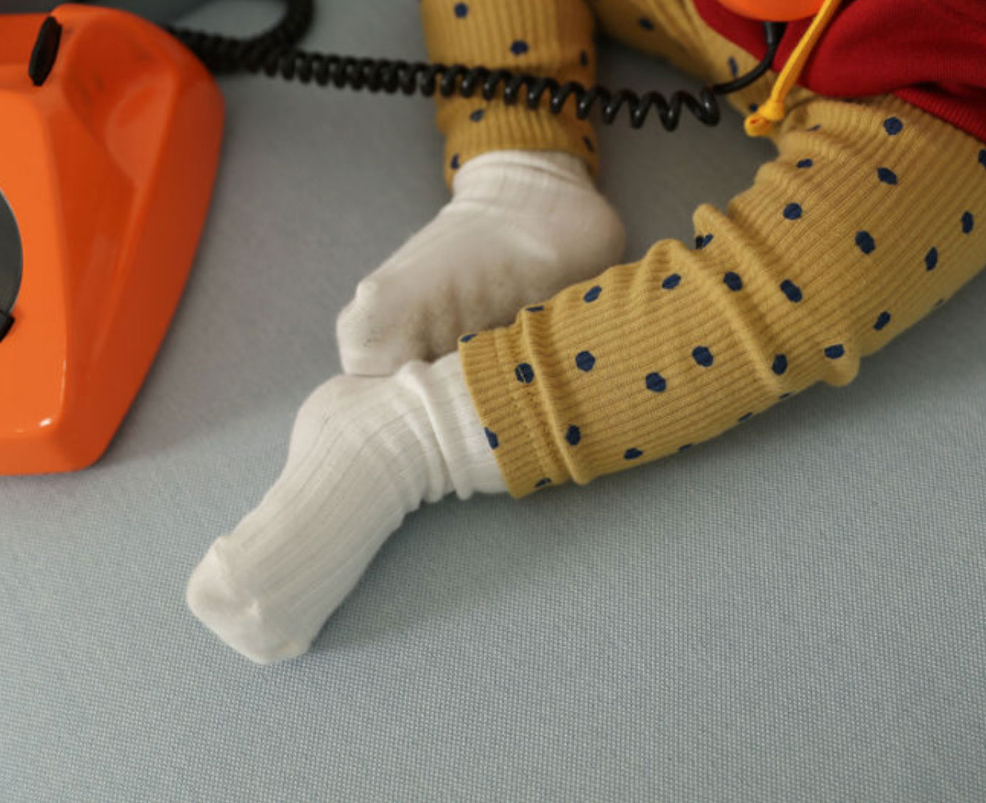 Legging  'Dot Dot' mosterd kleur