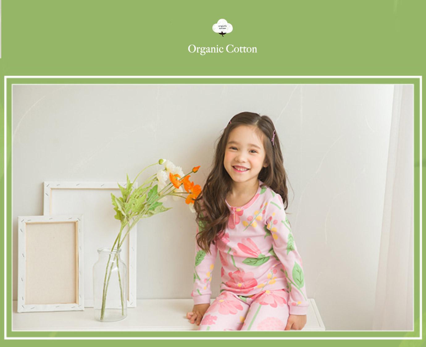 Pyjama Organic 'Flower day'