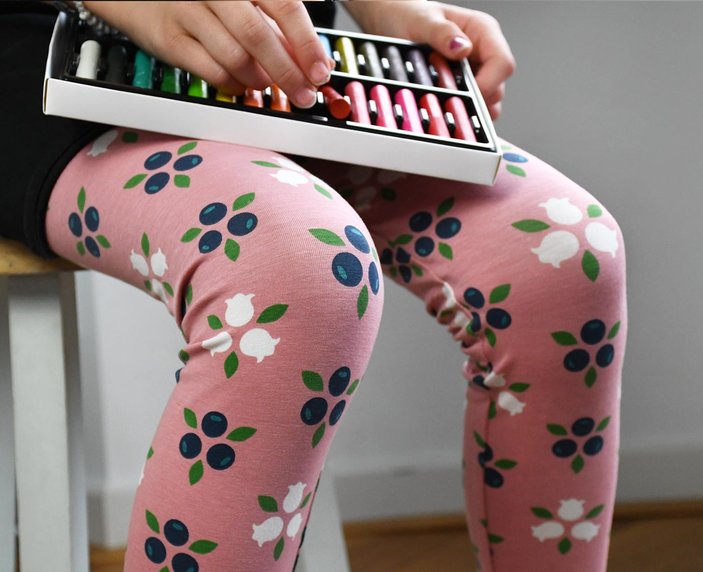 Legging 'Blueberry Blossom'